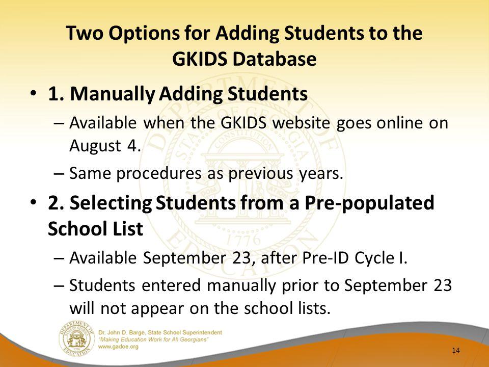 gkids pre administration workshop ppt download rh slideplayer com gkids manual 2017 2018 gkids manual 2017 2018