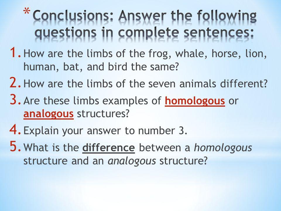 Homologous Analogous Structures Ppt Video Online Download