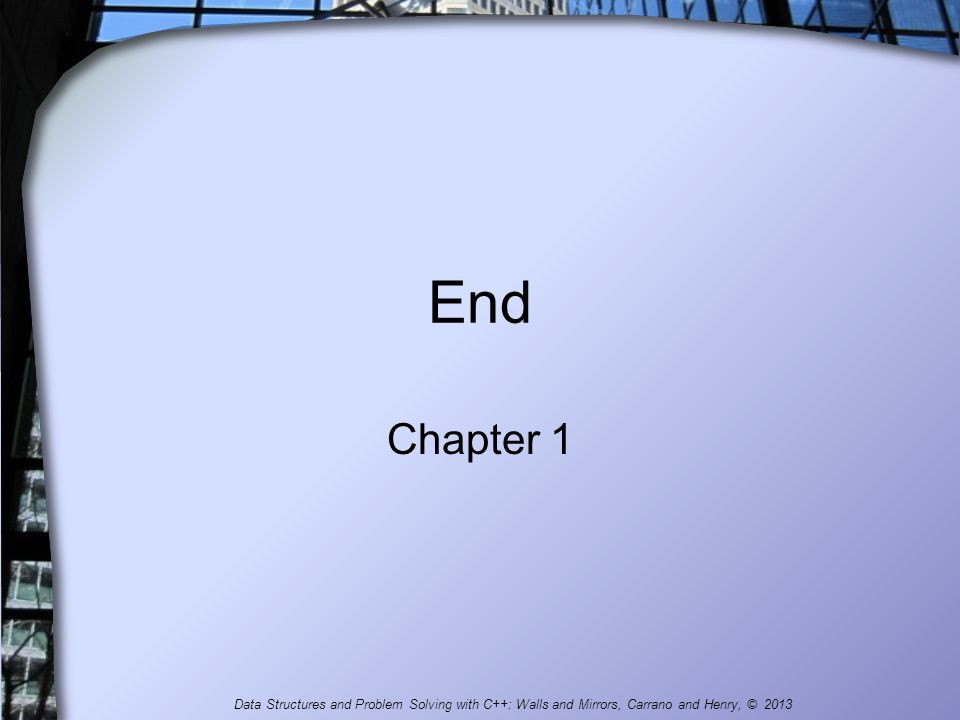 End Chapter 1.