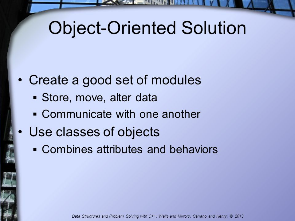 Object-Oriented Solution