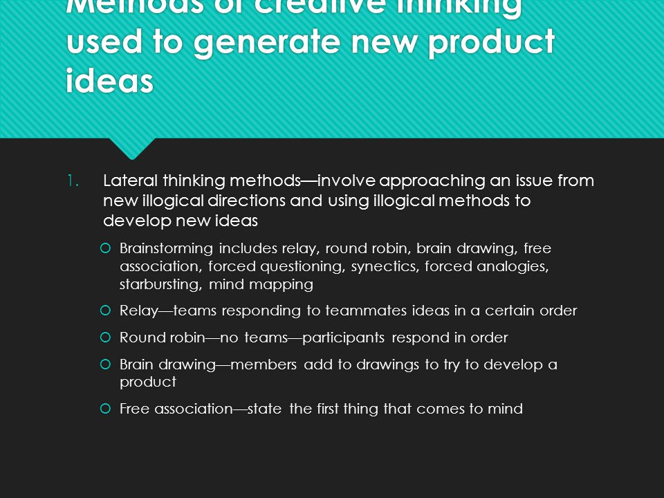 the new product essay 05122016  the first step of new product development requires gathering ideas to be evaluated as potential product options idea generation is an ongoi.