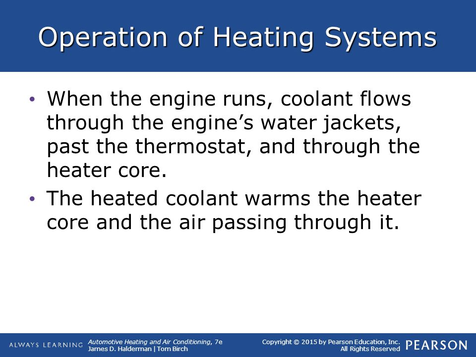 Operation of Heating Systems