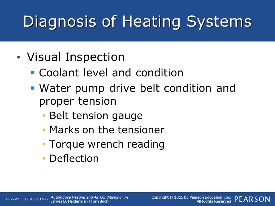 Diagnosis of Heating Systems