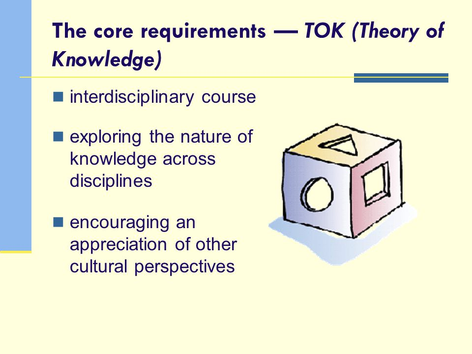 The core requirements — TOK (Theory of Knowledge)