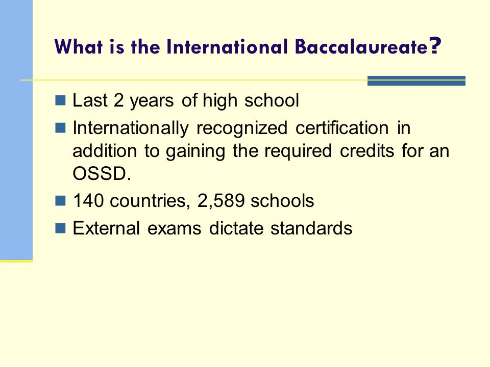 What is the International Baccalaureate