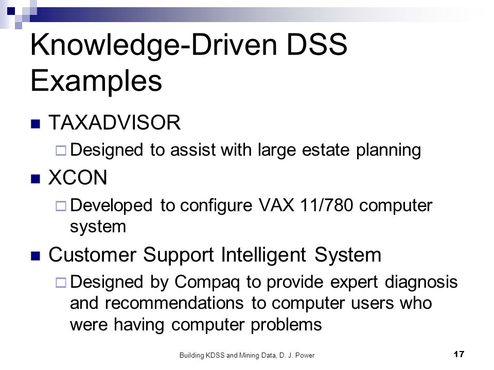 Building Knowledge-Driven DSS and Mining Data - ppt video