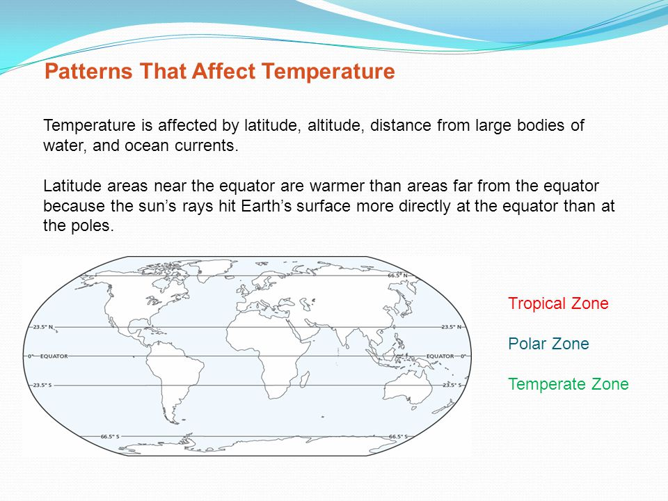 Patterns That Affect Temperature