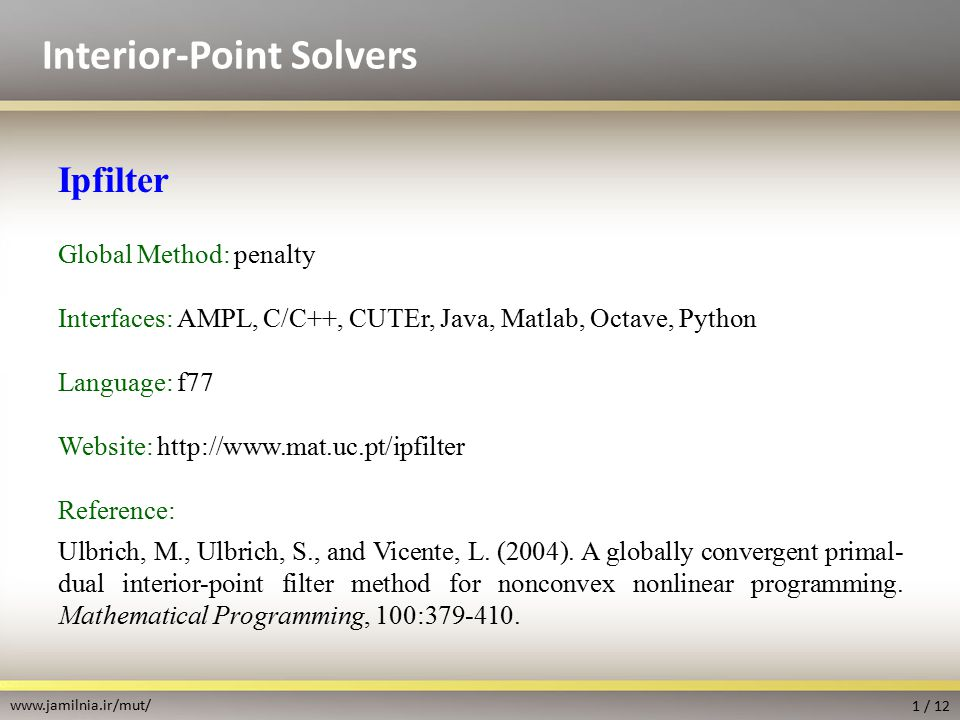 Interior-Point Solvers - ppt video online download