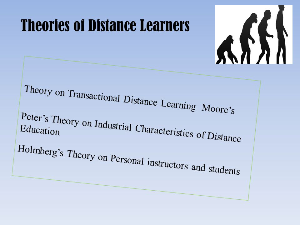Theories of Distance Learners