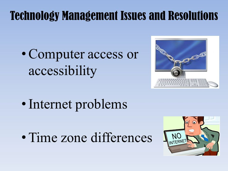 Technology Management Issues and Resolutions