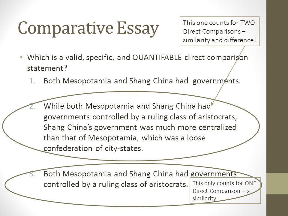 comparative essay another skill historians attempt to master