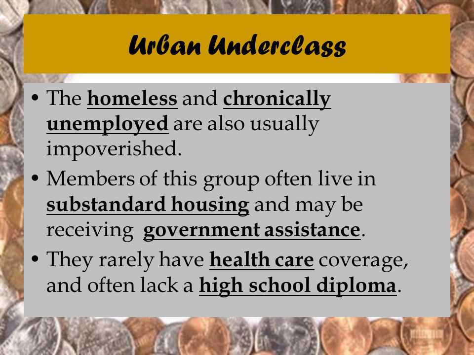 urban underclass definition
