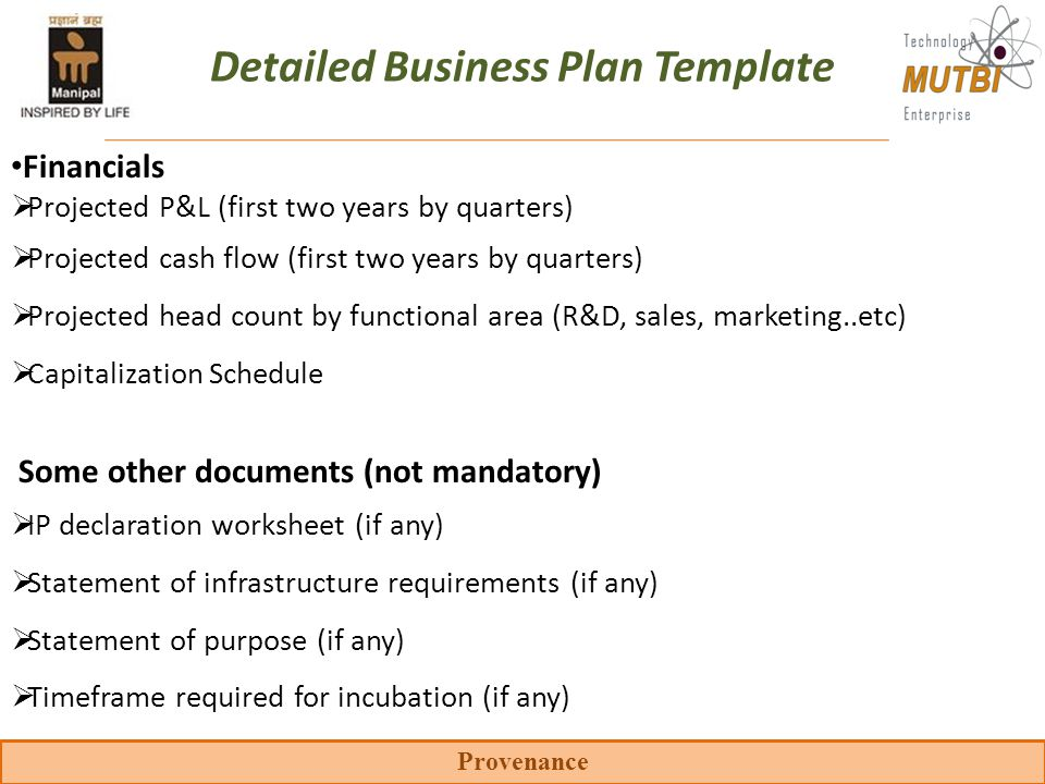 Detailed Business Plan Template