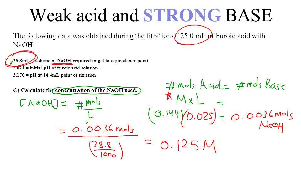 how to find ph of weak acid and weak base