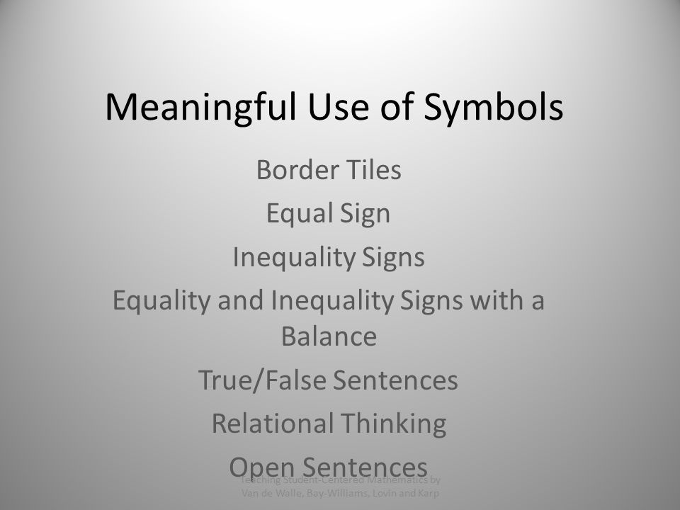 Meaningful Use Of Symbols Ppt Video Online Download