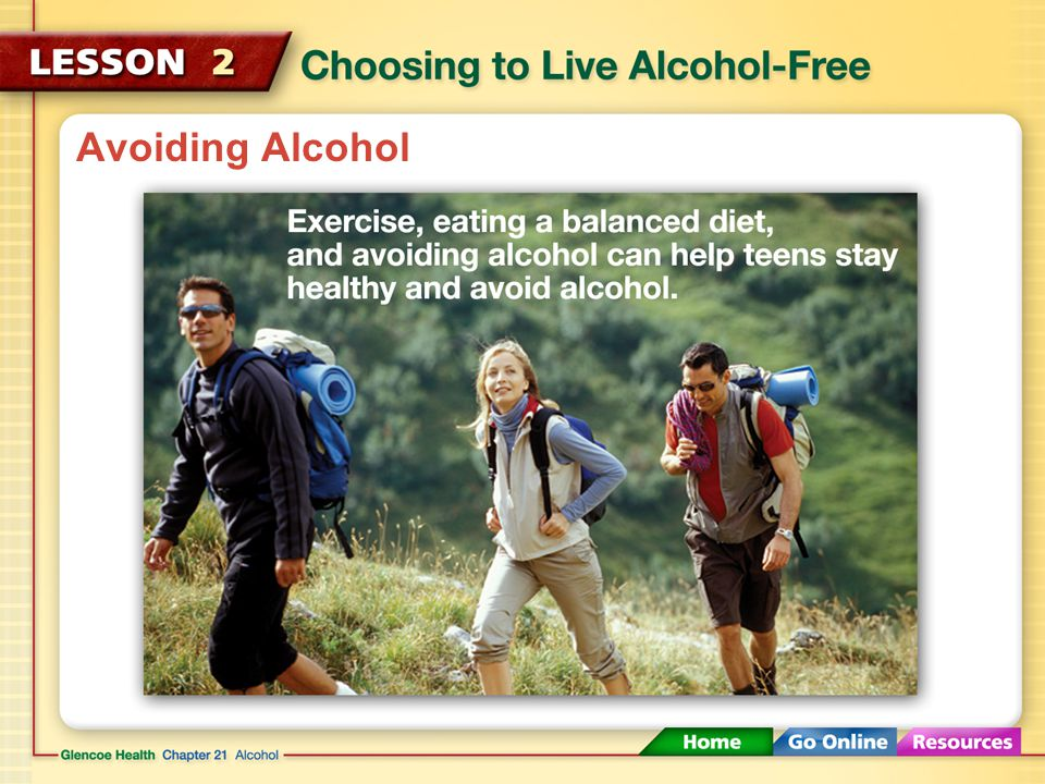 Avoiding Alcohol