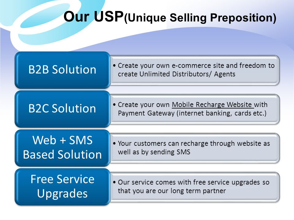 Our USP(Unique Selling Preposition)