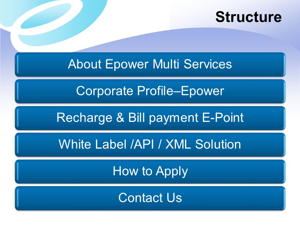 Structure About Epower Multi Services Corporate Profile–Epower