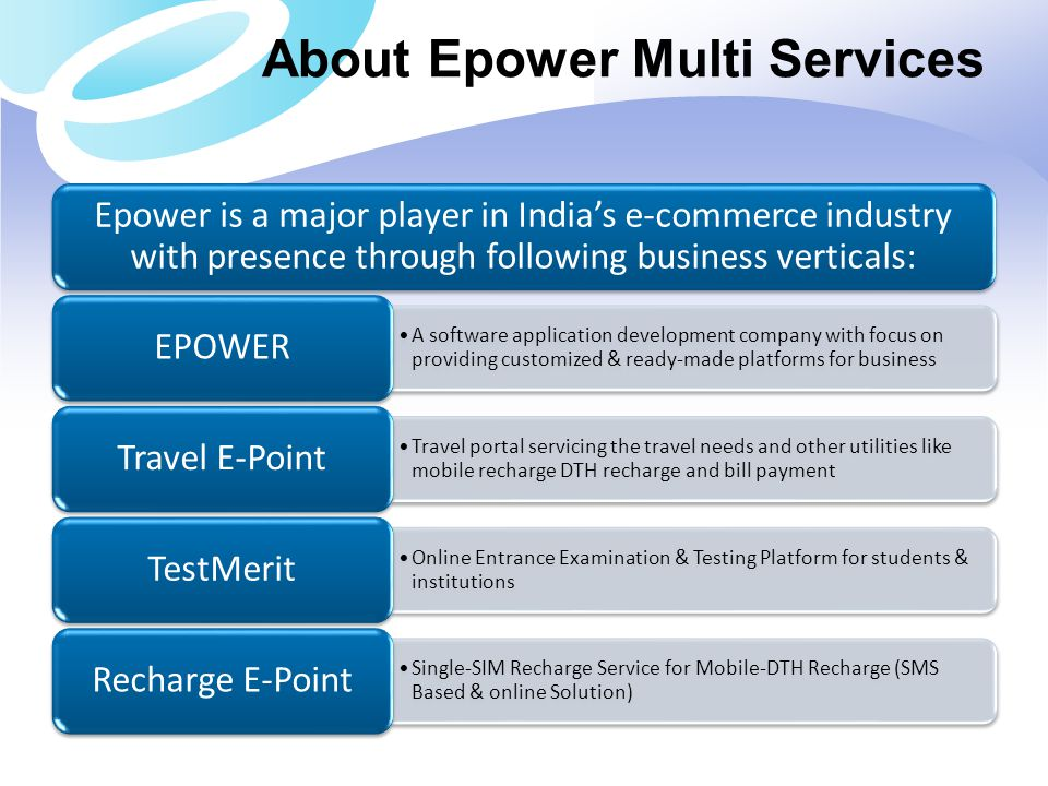 About Epower Multi Services