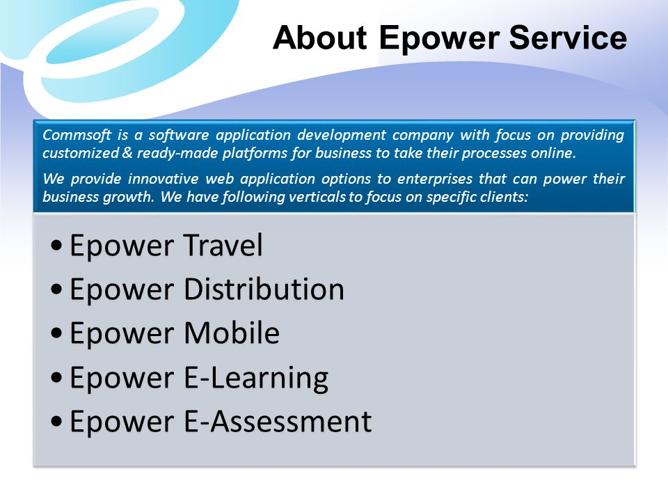 About Epower Service