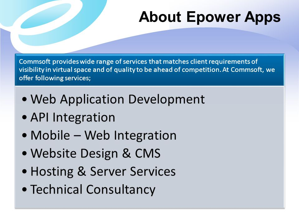 About Epower Apps