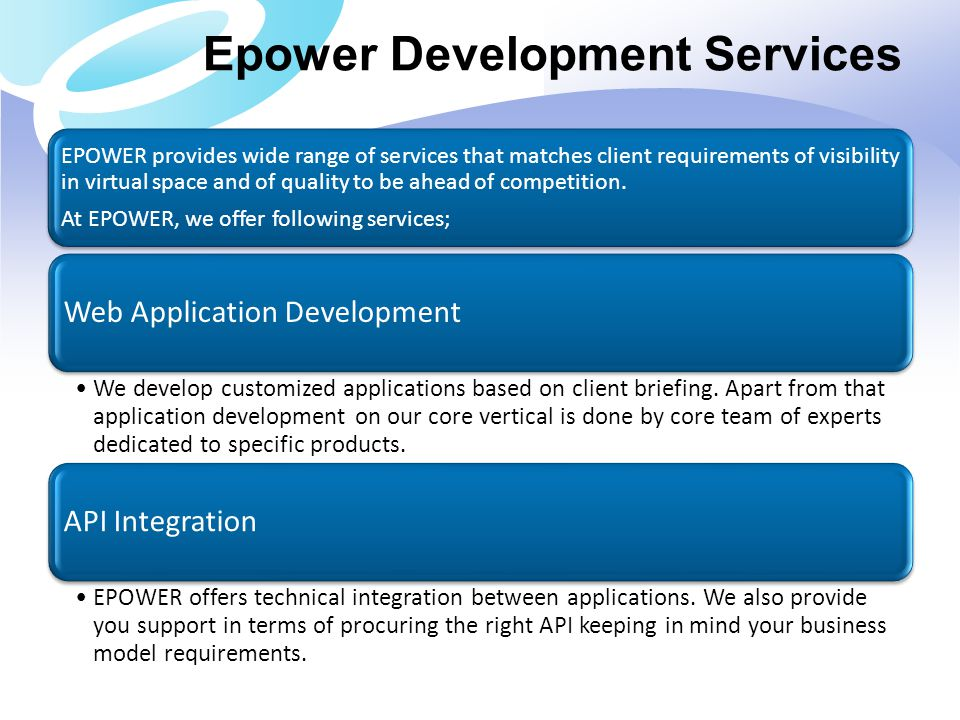 Epower Development Services