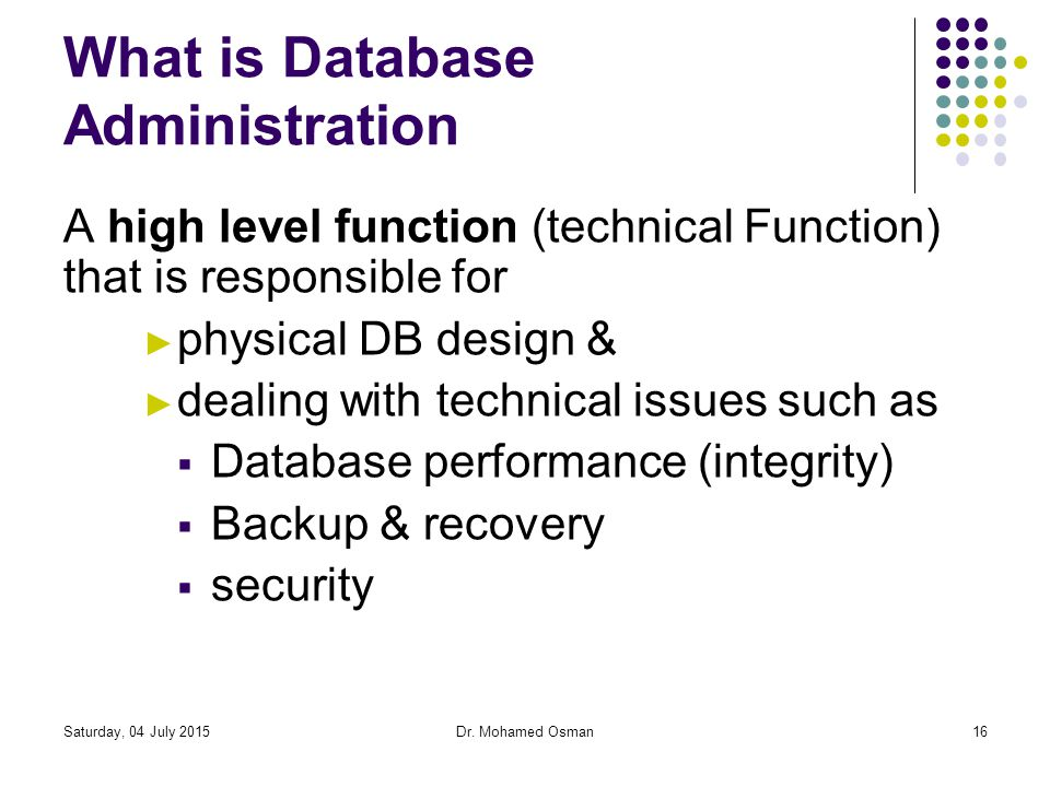 What is Database Administration
