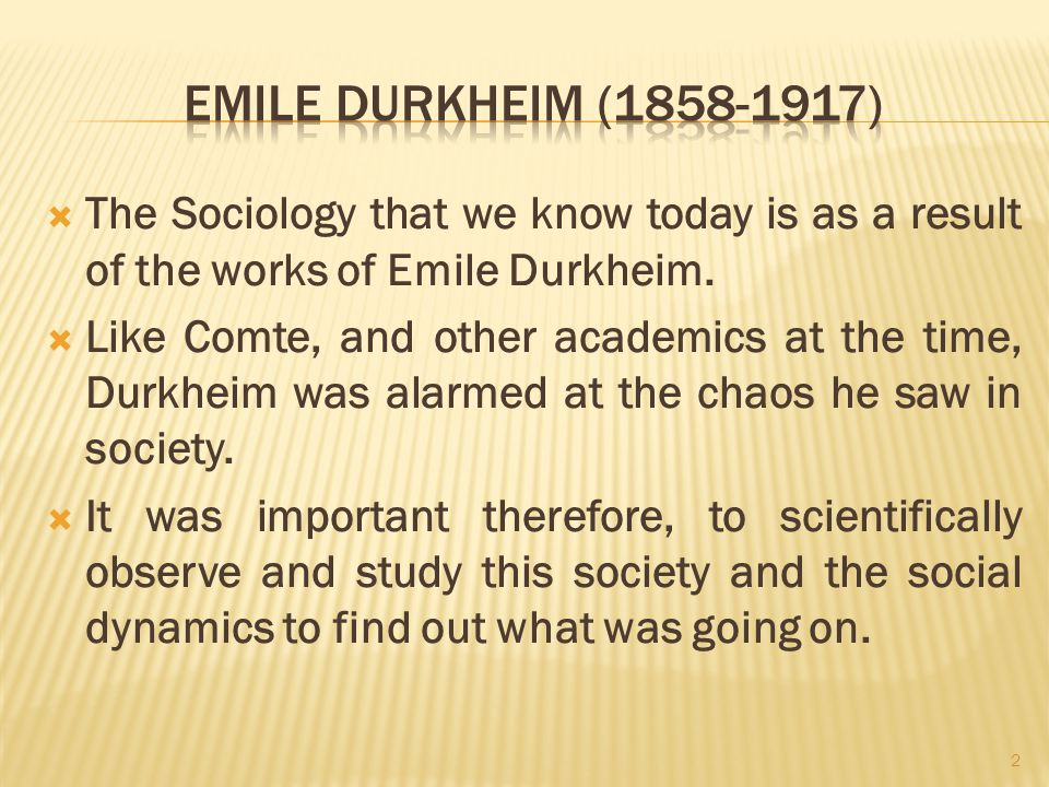 essay on emile durkheim sociology Durkheim is always named with max weber as one of the founders of sociology, and the concerns of these three essays are central to his whole project.