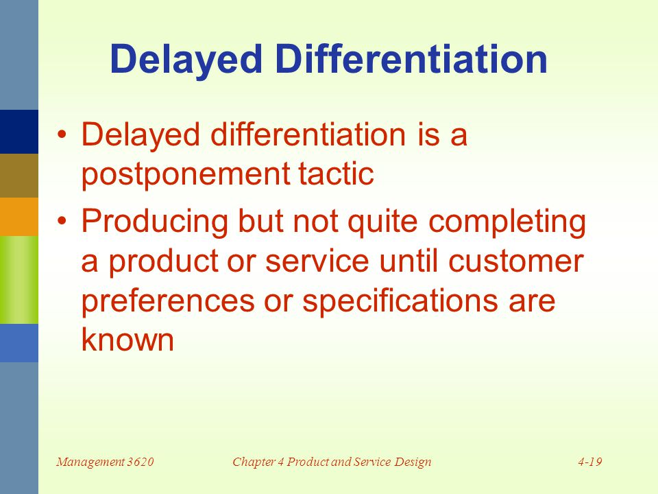 Delayed Differentiation In Product Design