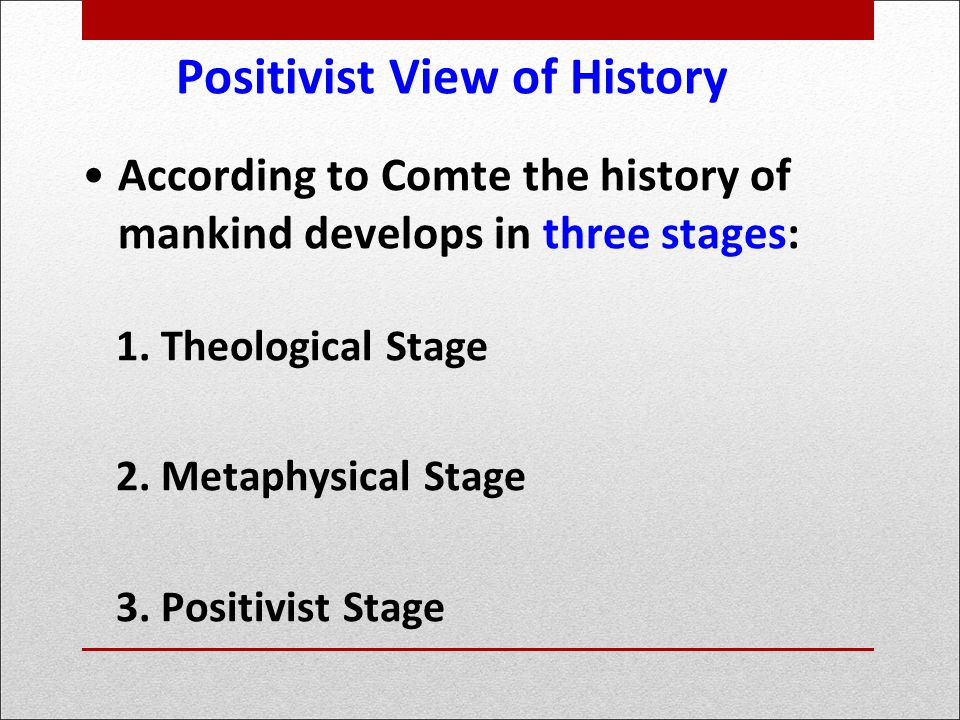 auguste comte positivism and the laws of three stages