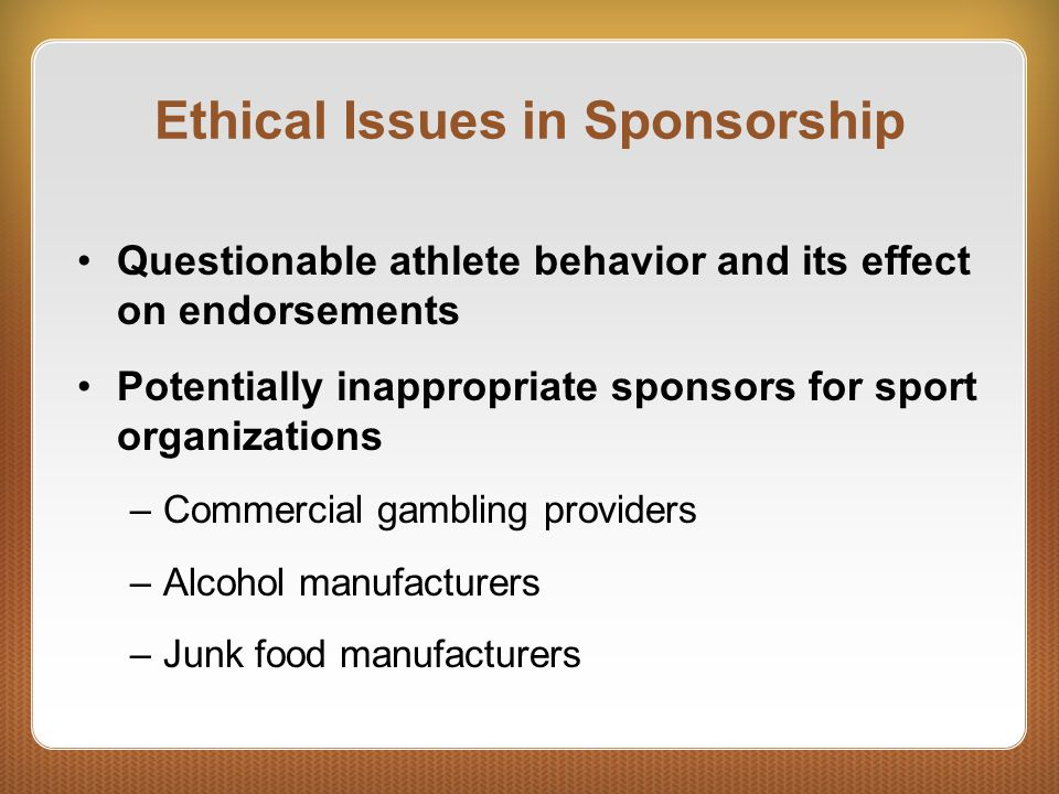 Ethical Issues in Sponsorship