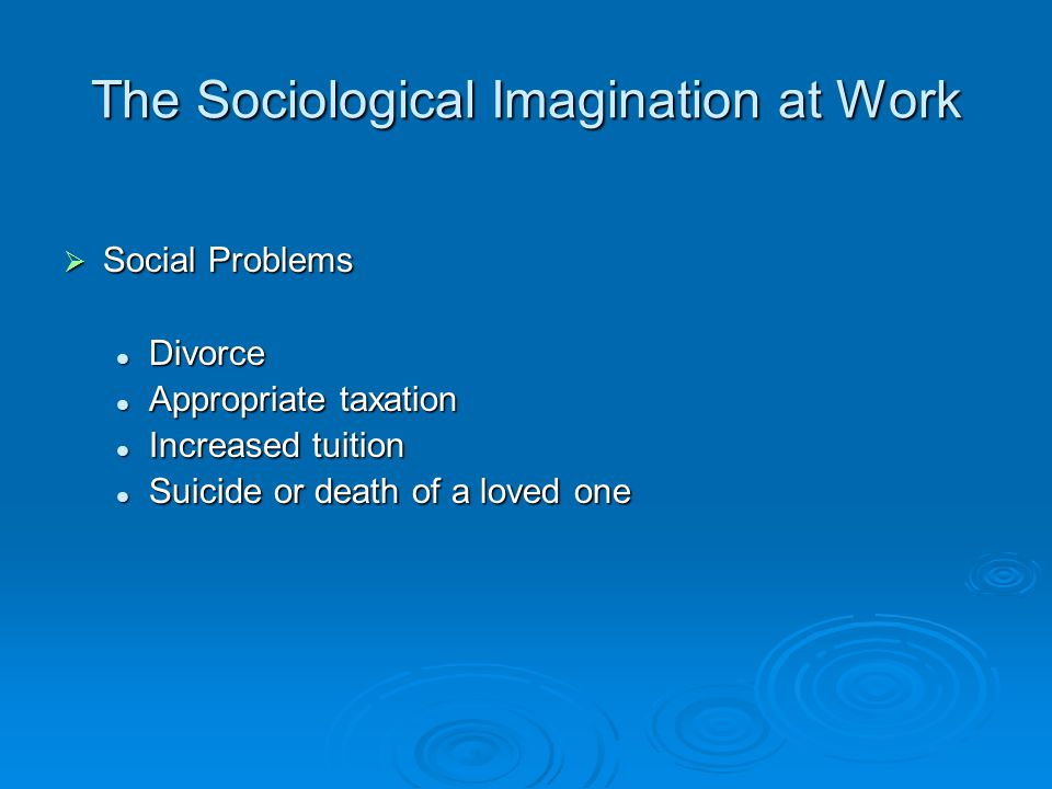 sociological imagination and divorce