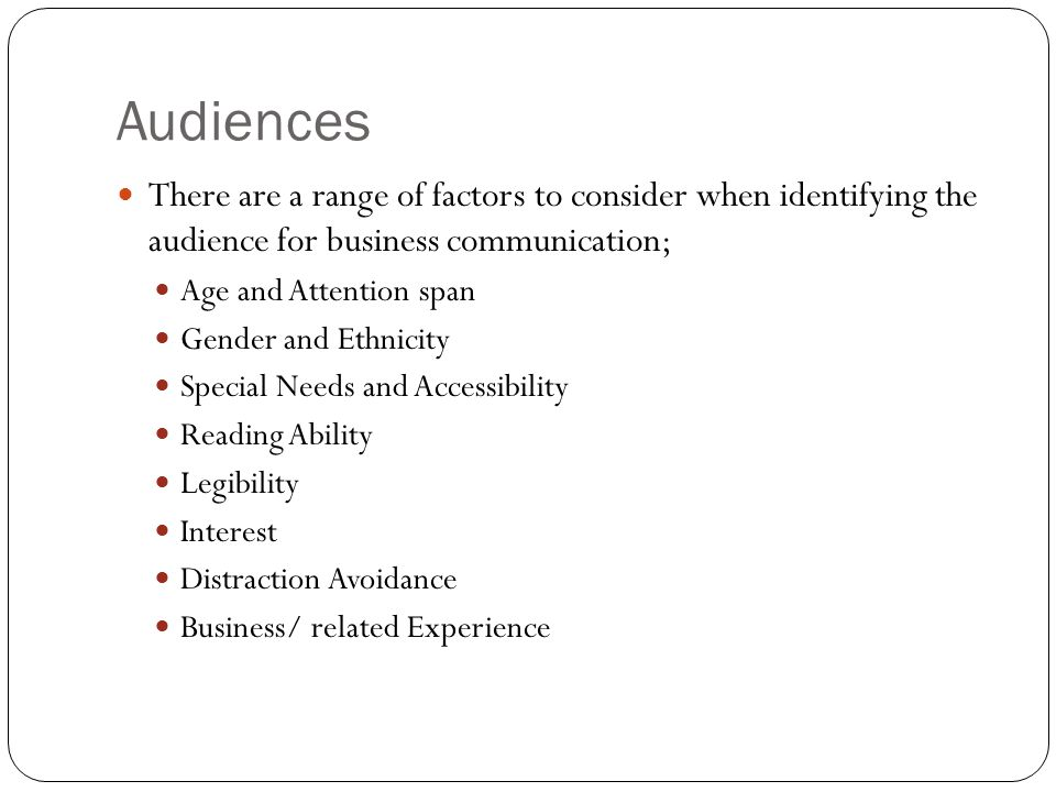 factors of business communication