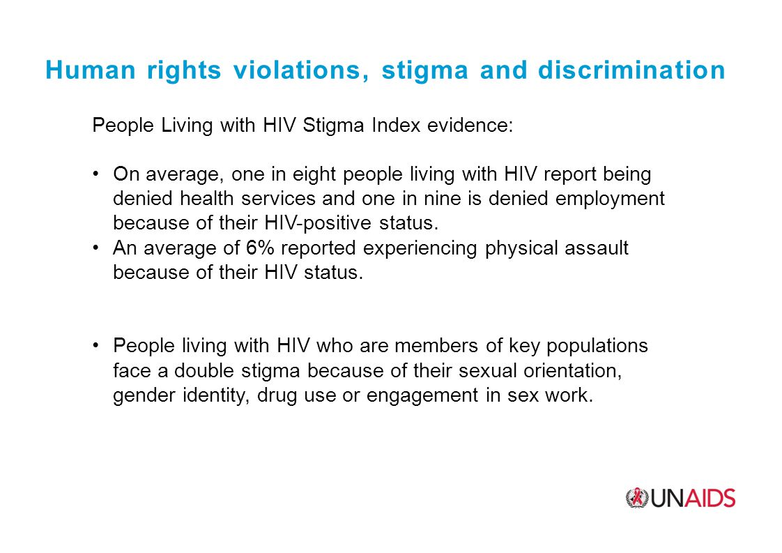 Human rights violations, stigma and discrimination