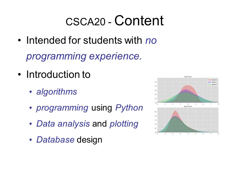 Intended for students with no programming experience.