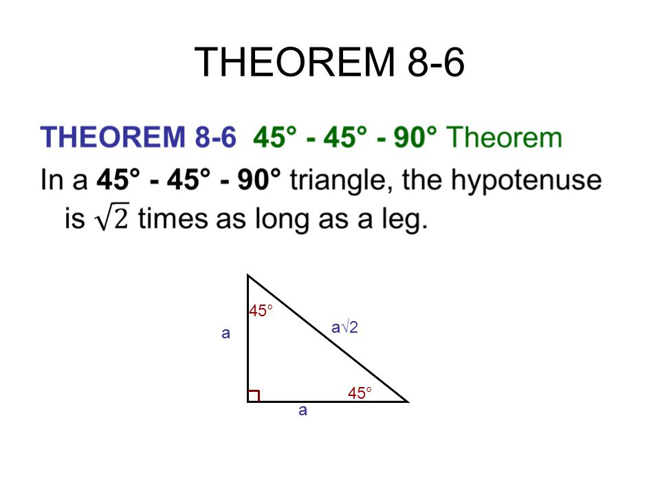 CHAPTER 8 RIGHT TRIANGLES - ppt download