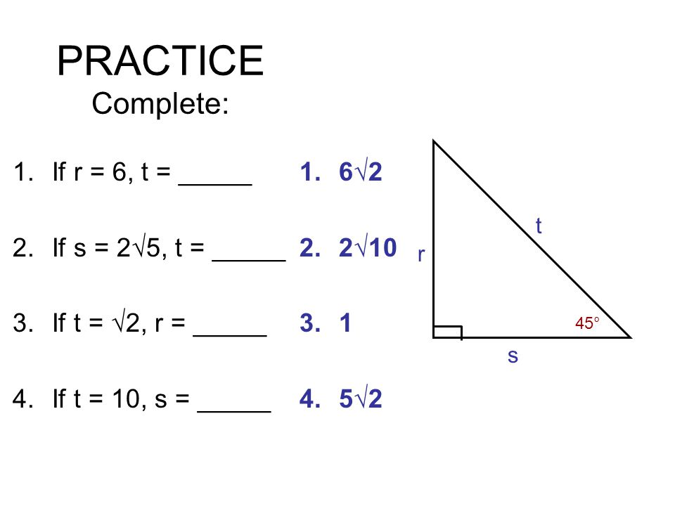 Chapter 8 Right Triangles Ppt Download