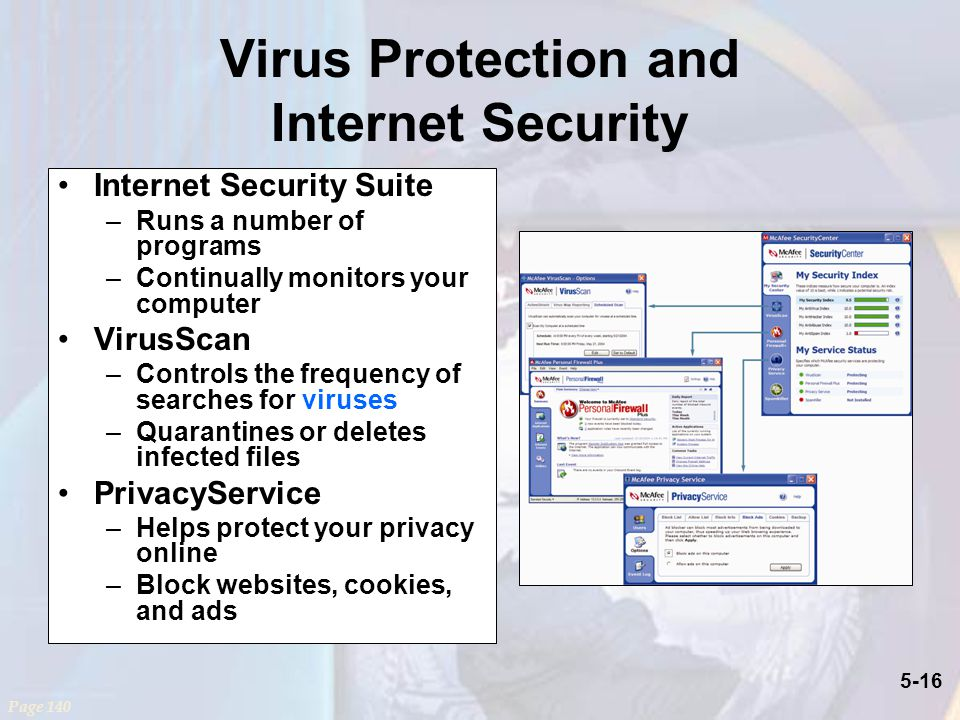 Virus Protection and Internet Security