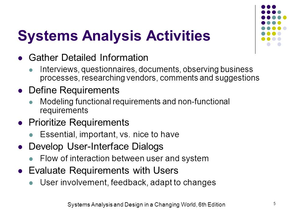 Systems Analysis And Design In A Changing World 6th Edition Ppt Download