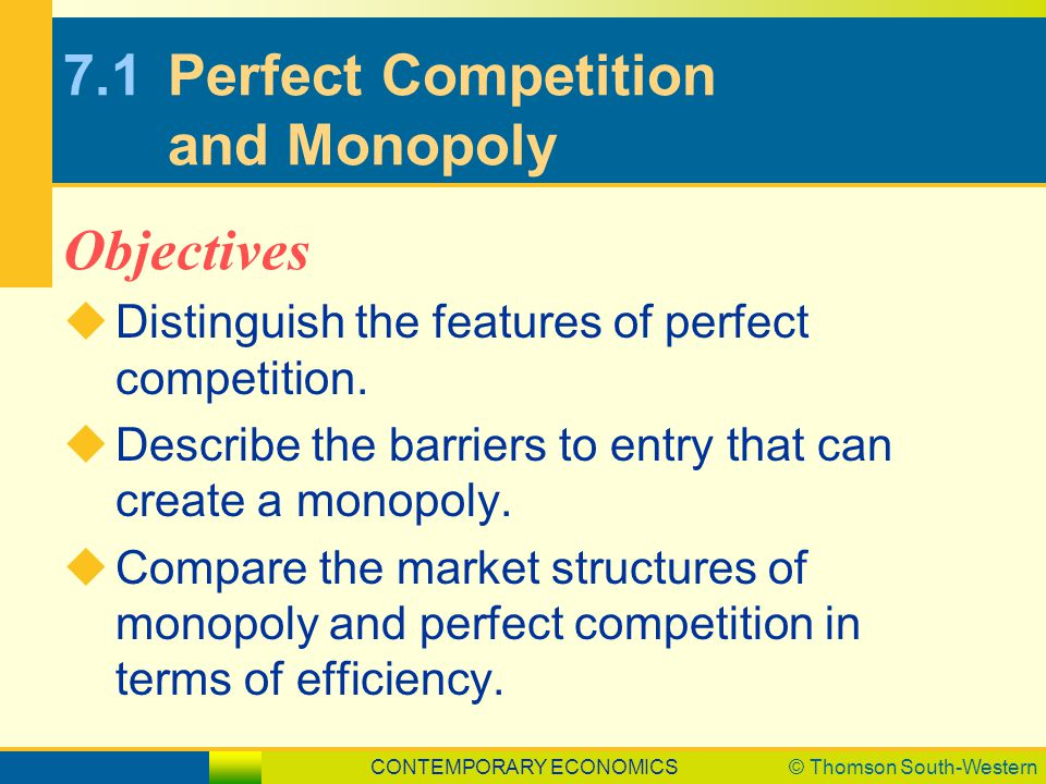 features of perfect competition