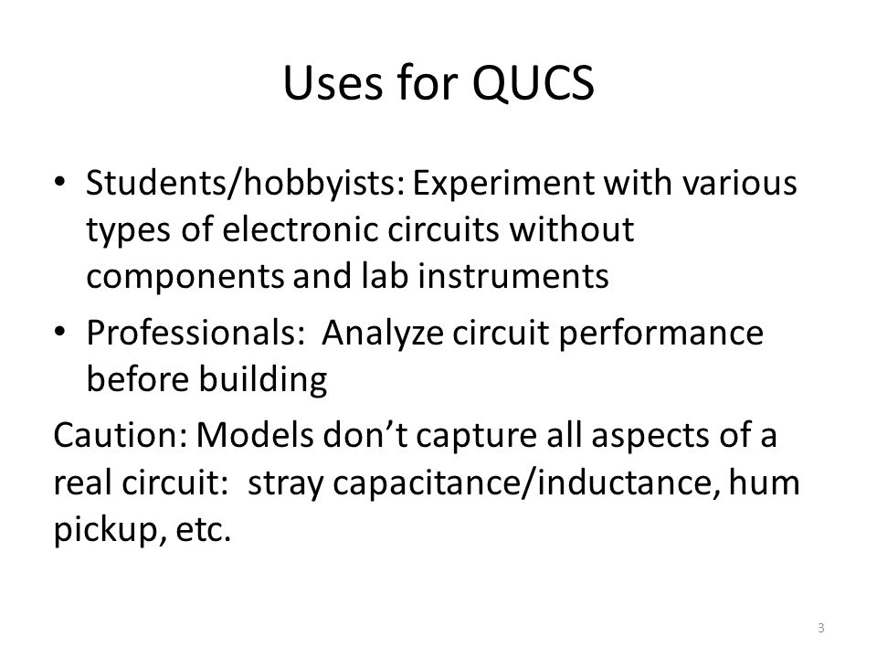 Simulating Circuits Using QUCS, the Quite Universal Circuit ...