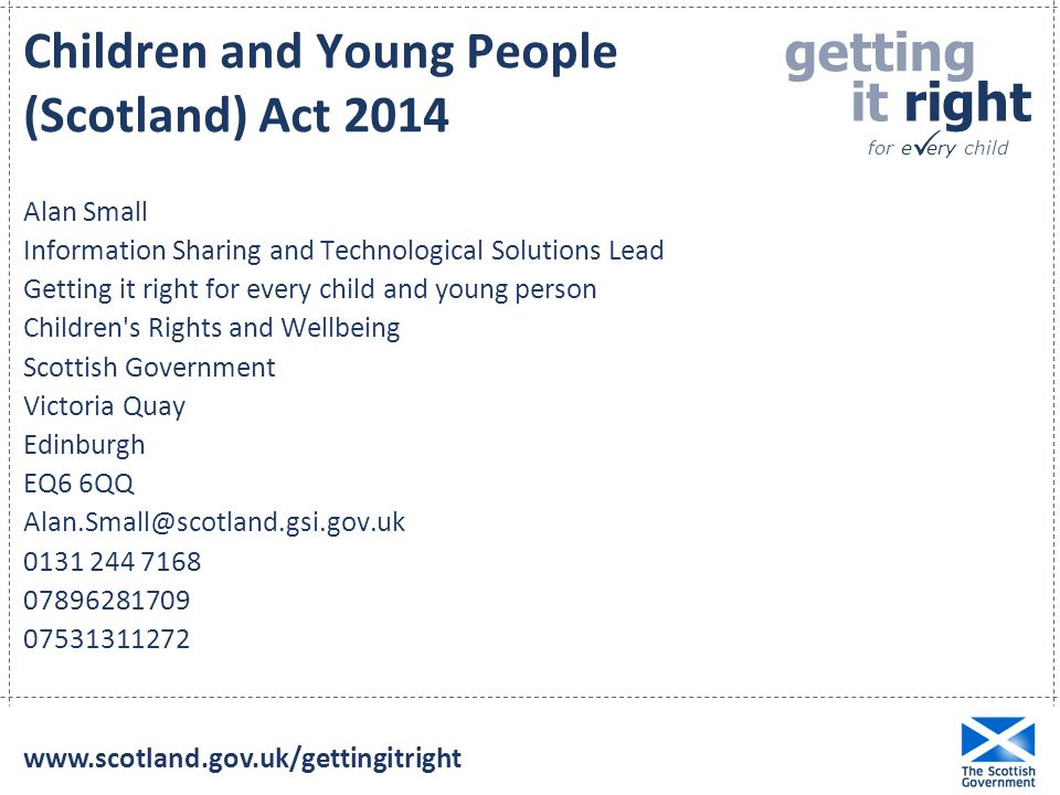 Children and Young People (Scotland) Act 2014