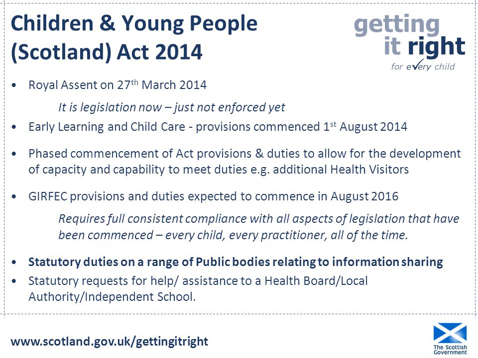 Children & Young People (Scotland) Act 2014