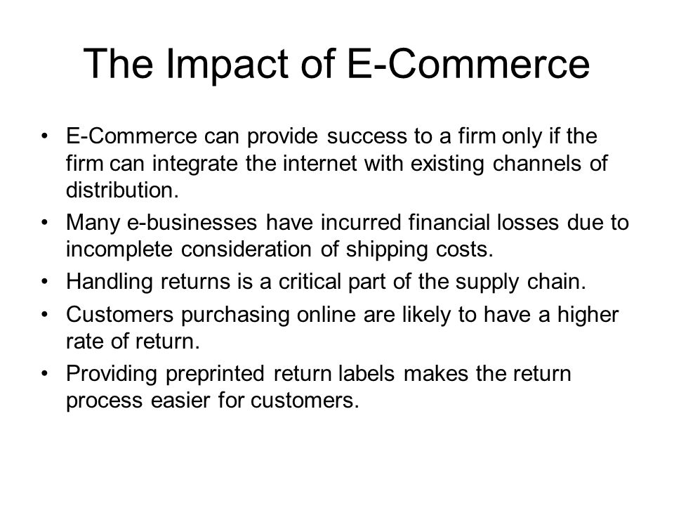 The Impact of E-Commerce