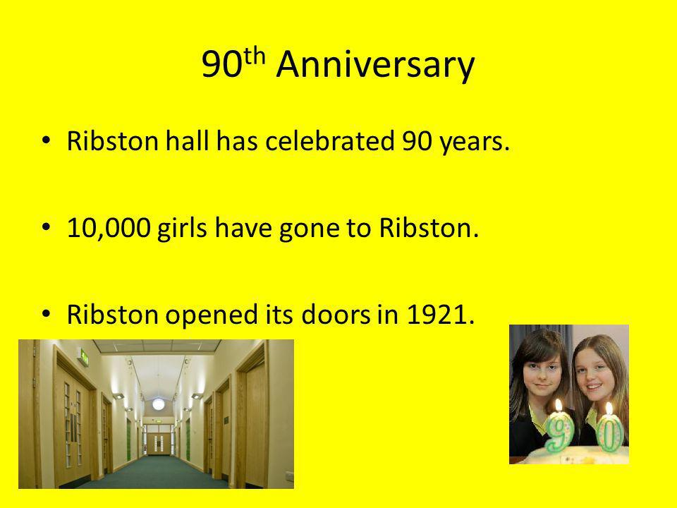 90th Anniversary Ribston hall has celebrated 90 years.