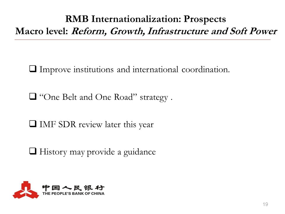 RMB Internationalization: Backgrounds, Developments and Prospects