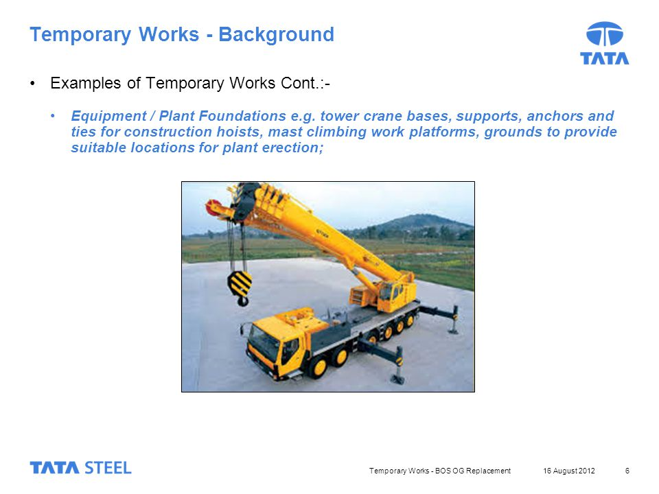 Temporary Works – What Needs to be Done - ppt video online download