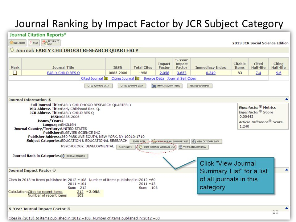 Citation Searching and Journal Rankings - ppt video online