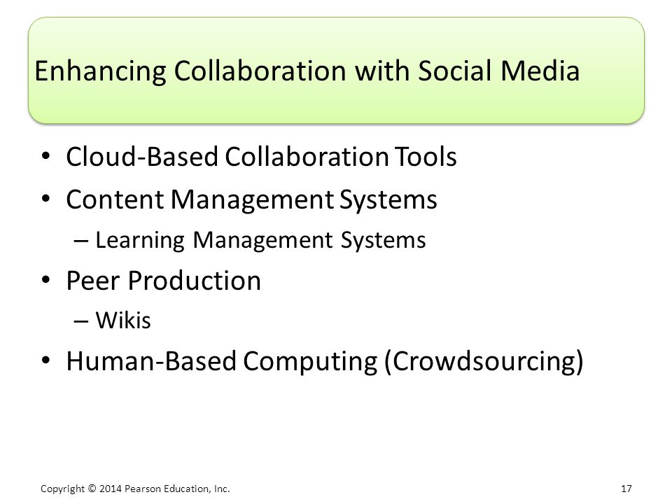 Enhancing Collaboration with Social Media