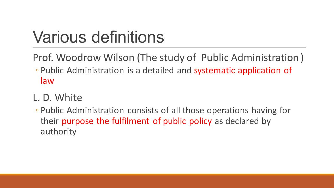 woodrow wilson and public administration